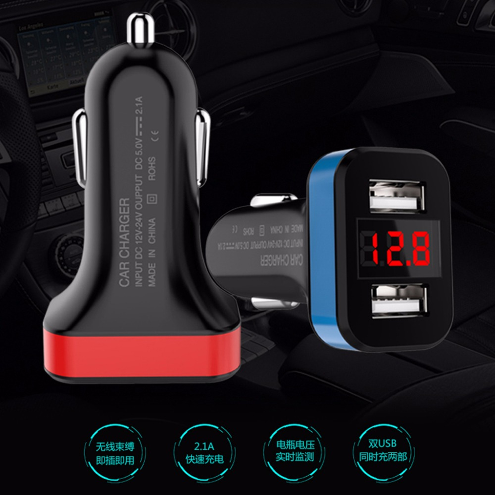 Car Chargers The Best 2-port Usb Car Charger Led Voltmeter Adapter For Iphone Samsung Lg Mobile Phone Cellphones & Telecommunications