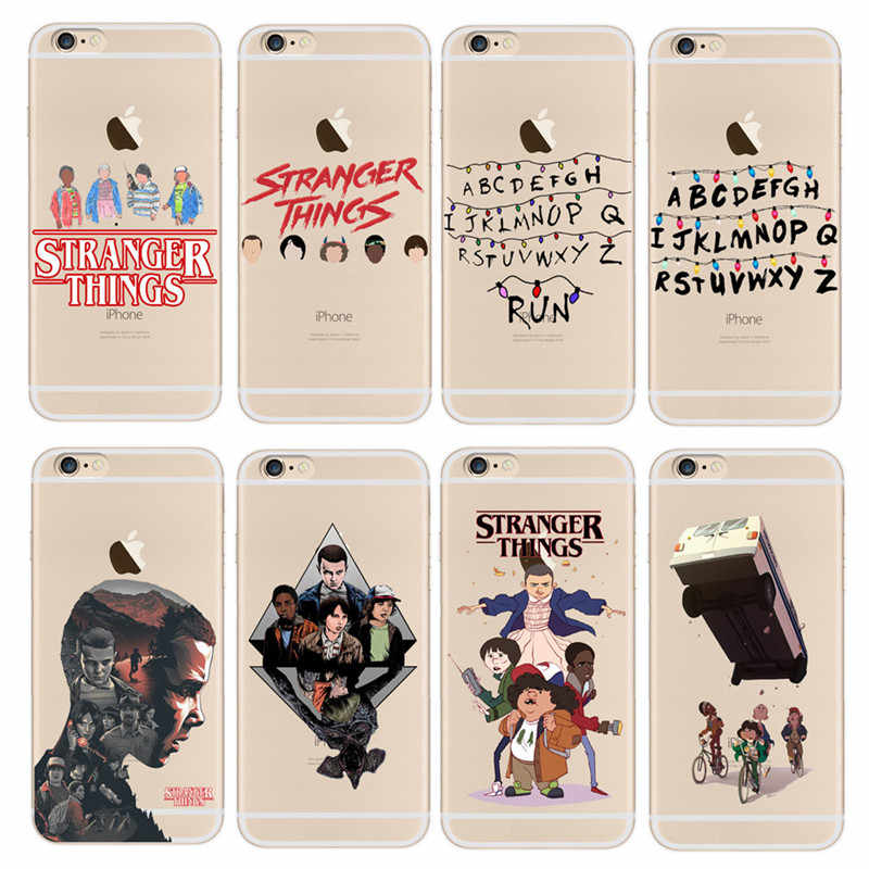 Stranger Things Christmas Lights Case For iphone 7 7Plus 6S 8 Plus X 5S SE Soft silicone TPU Phone Cases Back Cover Fundas Capa