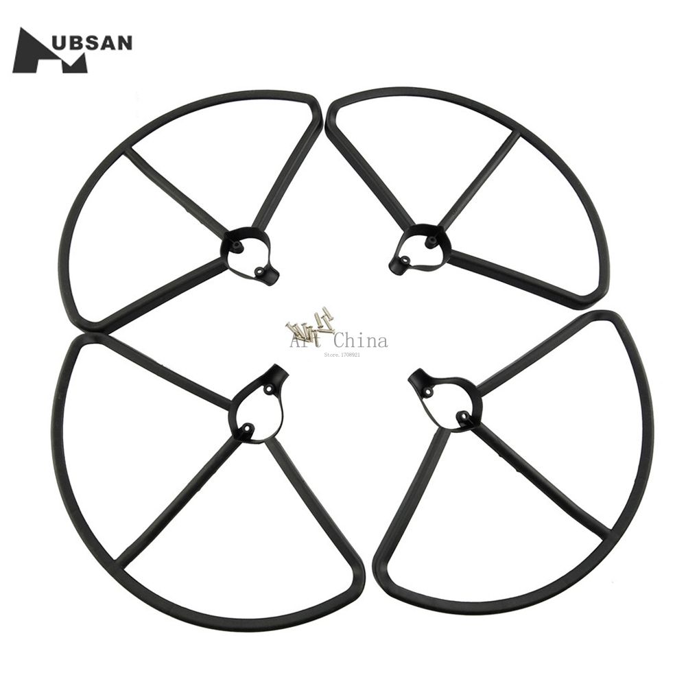 4pcs Propeller Protectors Protective Guard For Hubsan H501S X4 RC Quadcopter Airplane Drone Parts Helicopter RC Drone Quadcopter f15631 jmt 4pcs quick release propeller bumper protection guard cover for dji phantom 1 2 3 rc helicopter drone uav fs