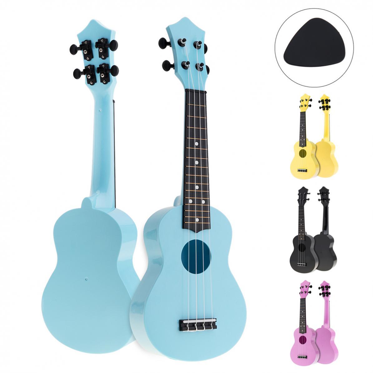 21 Polegada Colorido Acústico Ukulele Uke 4 Cordas Hawaii Guitarra Guitarra Instrumento Musica para Crianças e Música Iniciante