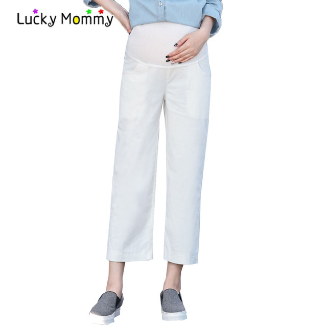 Hot Sale Corduroy Maternity Pants Wide Leg Capris for Pregnant Women Spring Summer Maternity Clothes Clothing for Premama