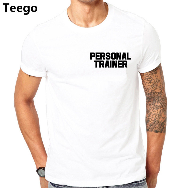 a1ed33e0 Personal Trainer T-SHIRT Gymer Workout Instructor Traininger Funny Birthday  Gift Base Shirt Newest 2017