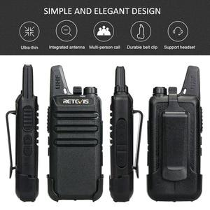 Image 2 - جهاز اتصال لاسلكي صغير مفيد 6 قطعة Retevis RT622 PMR راديو RT22 FRS لاسلكي الاتصال + شاحن بستة اتجاهات مطعم الفندق سوبر ماركت