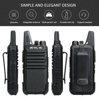 שתי דרך רדיו 6pcs Retevis RT622 / RT22 שתי דרך רדיו מיני מכשיר הקשר + שש Way מטען PMR VOX Portable מכשיר קשר עבור מלון / מסעדה (3)