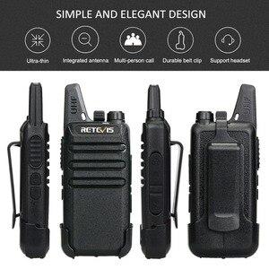 Image 2 - Mini Handy Walkie Talkie 6 pcs Retevis RT622 PMR Radio RT22 FRS Walkie talkies + Six Way Charger Hotel Restaurant Supermarket
