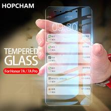 Vidro protetor protetor de tela temperado para huawei honor 7a 7c pro AUM-AL29 0.26mm 2.5d vidro curvo 7a 7c filme