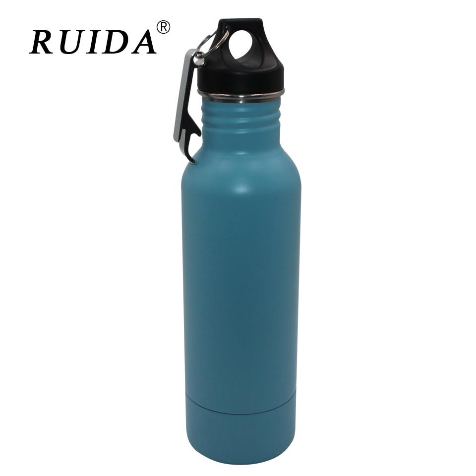 RUIDA Stainless Steel 12oz Insulated Neoprene Travel Bottle
