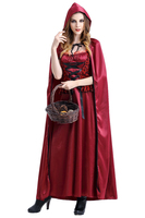 Sexy Red Adult Women Christmas Costumes Cloak Little Red Riding Hood Cape Halloween Carnival Party Cosplay Costumes
