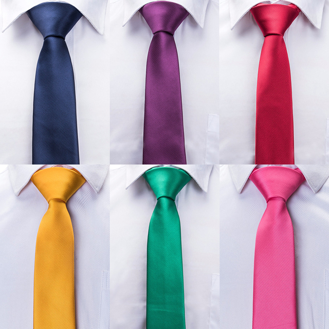 8c57db00b905 20 Styles Solid Men's Skinny Ties Fashion Plain Gravata Narrow Slim Ties  Jacquard Woven Silk Ties for Mens Wedding Cravata 5.5cm