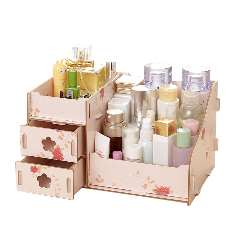 Hoomall Wooden Storage Box Jewelry Container Makeup