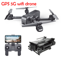 Foldable 5G WIFI GPS drone Quadrocopter with HD 1080P adjust Camera quadcopter FPV Altitude Hold Smart Follow led Rc Helicopter