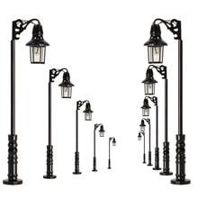 Lampe à léchelle N, 10 pièces, lampe à tête unique 47mm 1:150, lumière blanche chaude, modèle de Train ferroviaire, Miniature, LQS75N