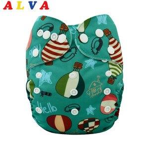 Детский многоразовый подгузник ALVA, один размер, подходит для всех детей, тканевый подгузник с вставкой H021