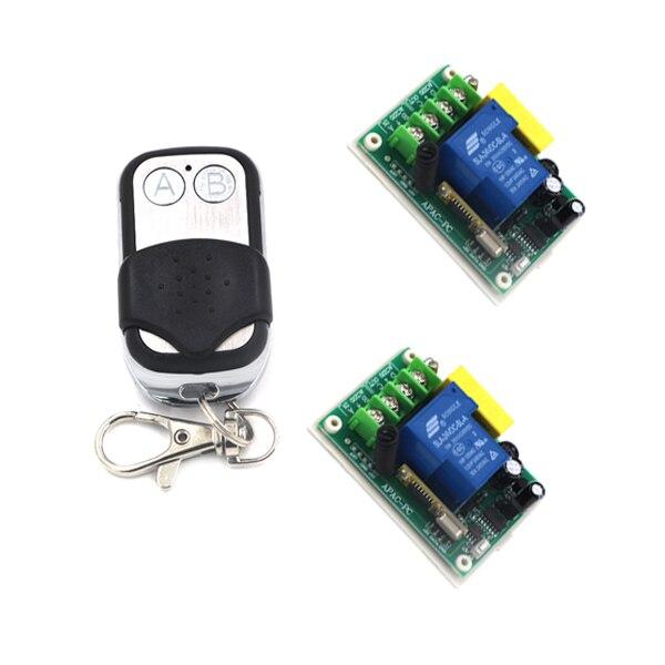 220V Wireless Switch Remote Control System 30A 3000W RF 433MHZ 315MHZ Lamp Control Jog/ Self-lock/ Inter-lock SKU: 5155 ac220v rf wireless remote control light lamp switch system 1receiver