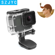 цена на SHOOT Mini Action Camera Hat Clip Mount for GoPro Hero 7 5 6 Session SJCAM SJ4000 SJ5000 SJ7 Star Yi 4K Lite H9 Go Pro Accessory