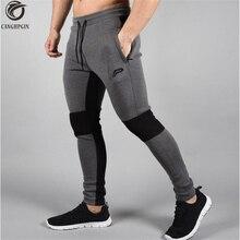 2018 novas calças de corrida dos homens joggers calças comprimidas ginásio musculação calças esportivas legging magro calças esportivas calças compridas