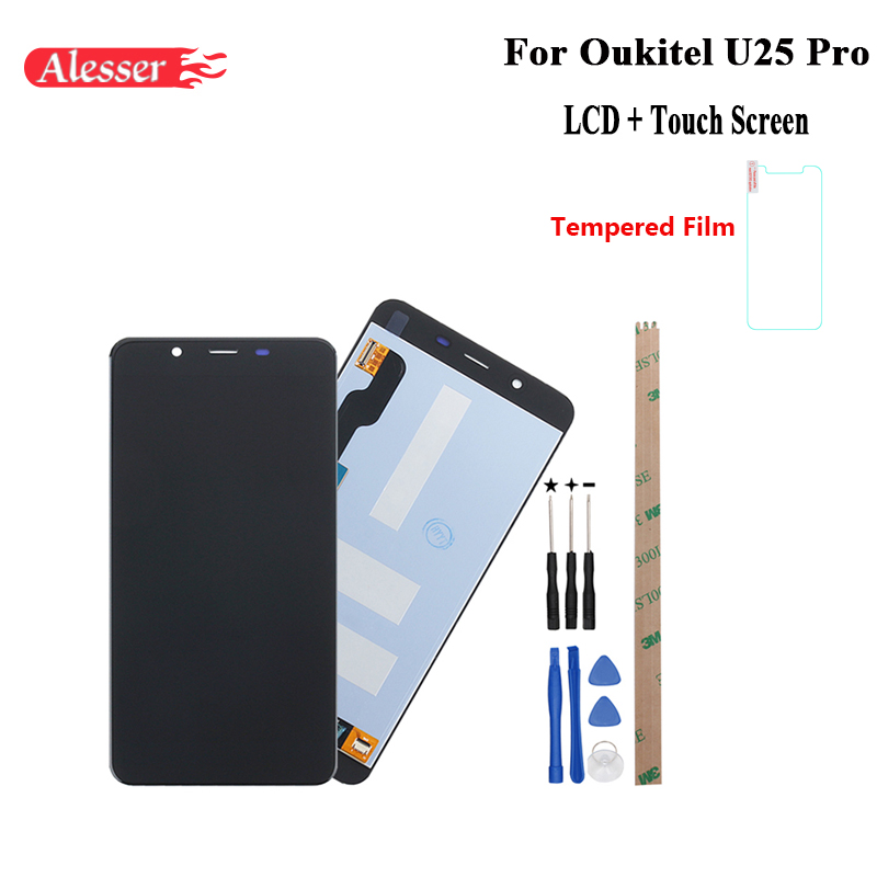 Alesser For Oukitel U25 Pro LCD Display and Touch Screen Assembly Repair Parts With Tools And Adhesive For Oukitel U25 Pro PhoneAlesser For Oukitel U25 Pro LCD Display and Touch Screen Assembly Repair Parts With Tools And Adhesive For Oukitel U25 Pro Phone