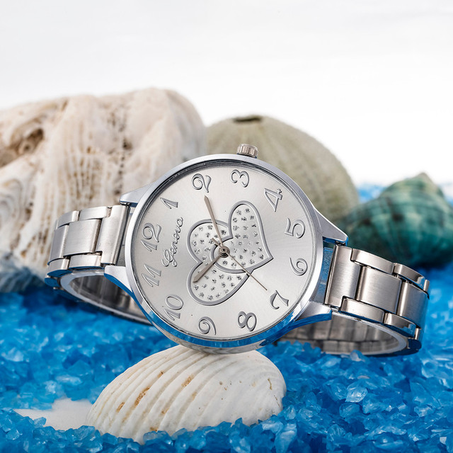 Fashion Women watch Crystal Stainless Steel Analog Quartz Wrist Watches Bracele