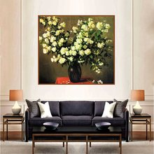Yellow Flowers Bonsai Retro Oil Canvas Painting Art Print Picture Vintage Home Decoration Wall Poster for Living Room Gifts