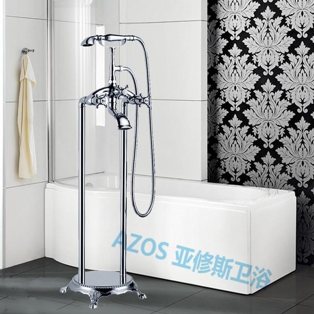 Bath & robinet de douche moderne Chrome argent Type double poignée ...