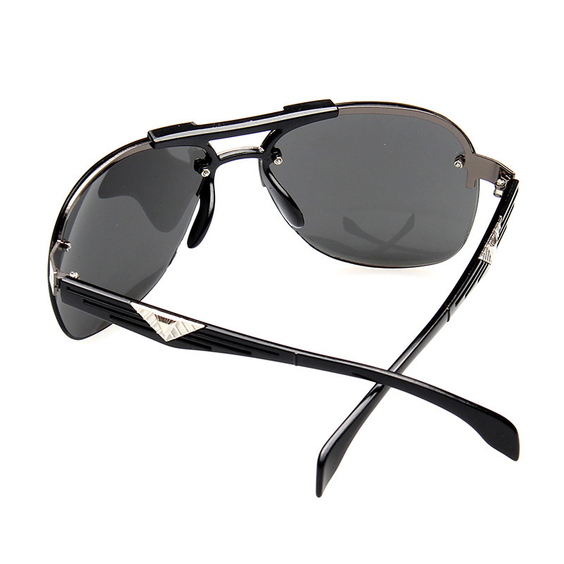 Sunglasses Men Fashion High Quality Retro Big Frame Personality Atmosphericfrog Mirror Metal Frame Anti UV Sunglasses 2019 New in Men 39 s Sunglasses from Apparel Accessories