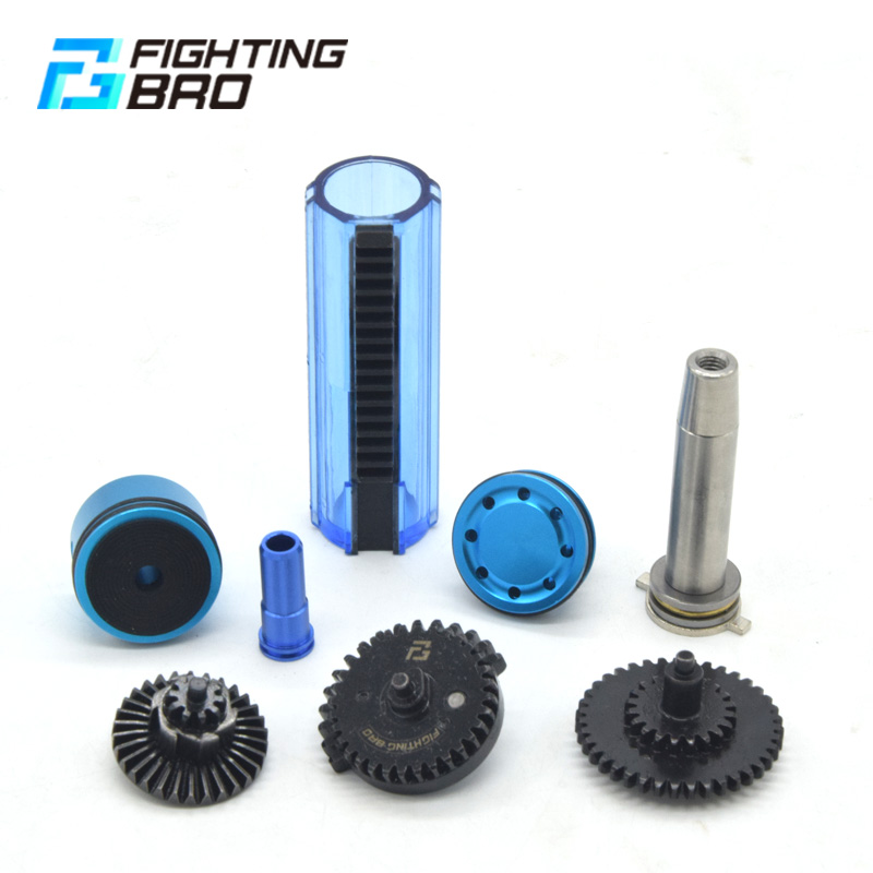 M4 Ver.2 AEG Airsoft accessories High Speed Gear Piston head Spring guide Nozzle Cylinder 13:1 16:1 18:1 200:100 300:100 CNC цена