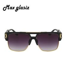 2017 New Fashion Square Sunglasses Men Brand Designer luxury Mens Sun Glasses Frame Male Gafas   Masculino