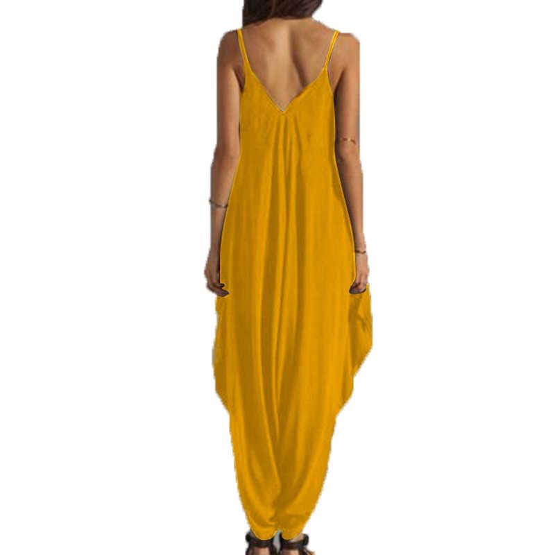 2019 длинное боди модные летние женские шаровары комбинезон женский комбинезон элегантный костюм пляжного типа одежда Macacao