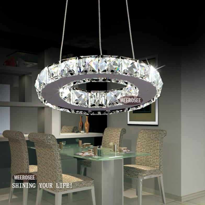 Online Shop Modern LED Ring Lamp Light Fixture Crytsal Office