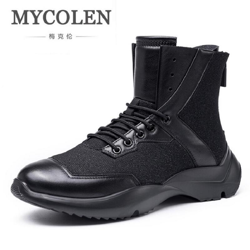 MYCOLEN Brand Men Flat Casual Shoes Breathable Fashion Sport Black Shoes Men Zapatillas Deportivas Hombre Trainers Men's Shoes casual dancing sneakers hip hop shoes high top casual shoes men patent leather flat shoes zapatillas deportivas hombre 61