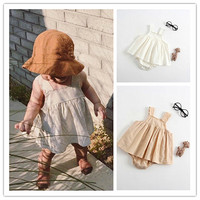 Baby Romper Girl Newborn Baby Girl Clothes Summer Cotton Little Princess Sunsuit Baby Romper White Cute
