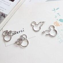 2020 New Mini Cartoon Cute Style Mickey Minne Stud Earrings For Women Femme Bijoux