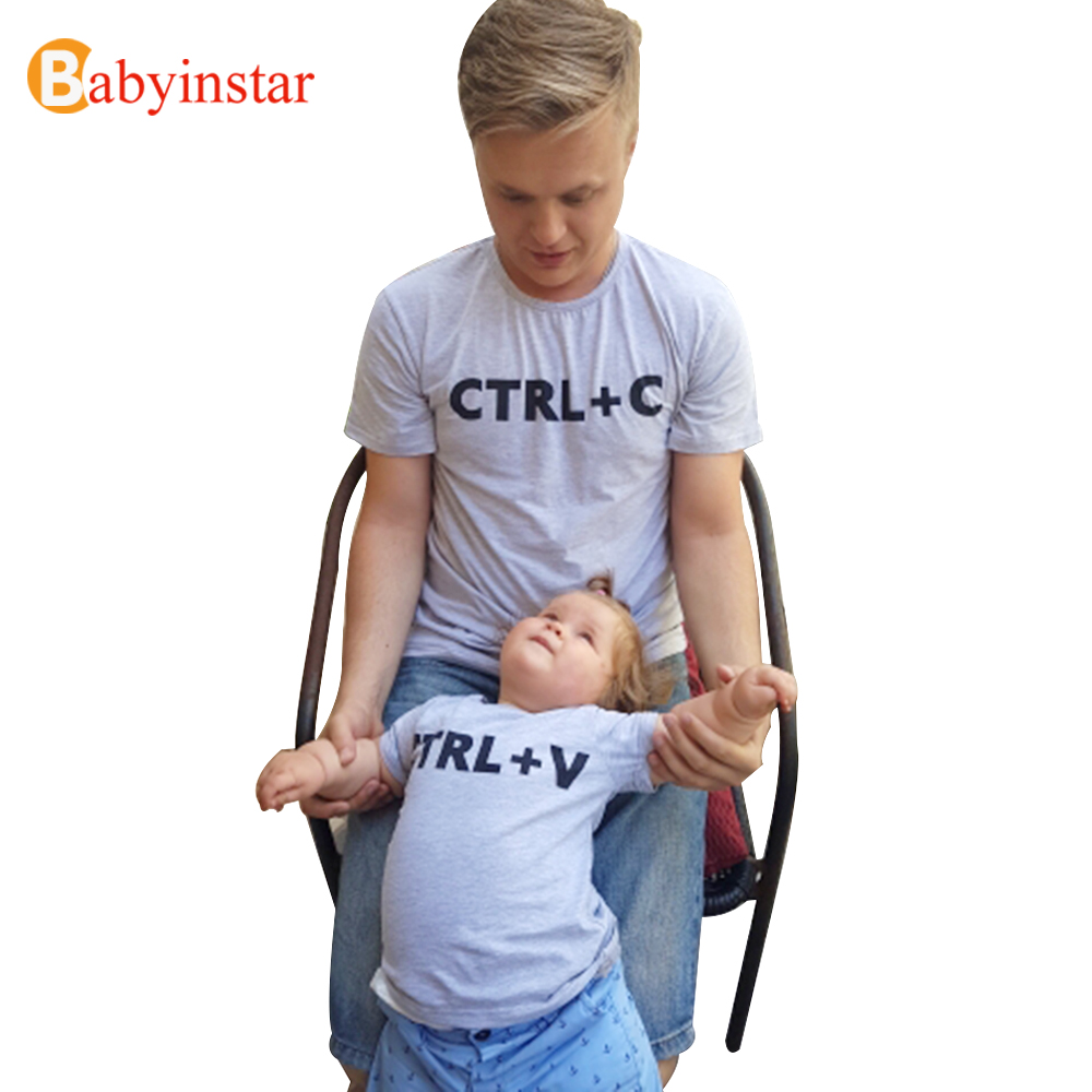 Babyinstar Father & Me Matching Clothe Cute Print