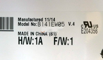 B141EW05 V.4  LCD Display  B141EW05 V4 Good Quality Warranty