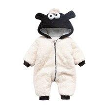 AYYLISSNA Newborn Baby Winter Cute Animal Rompers Warm