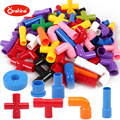 Children puzzle large particles of water pipe blocks of toys Early education toys many graphics colorful toys T230