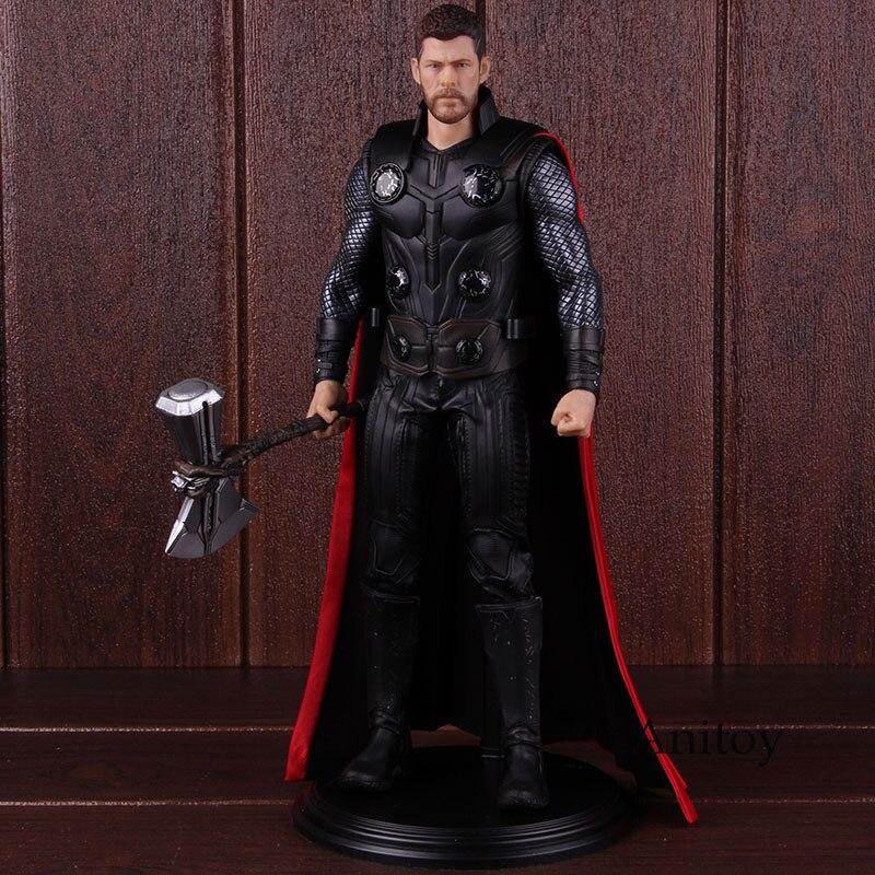 Marvel comics vingadores infinito guerra thor figura pvc 1/6 escala collectible thor figura de ação modelo brinquedo 30cm