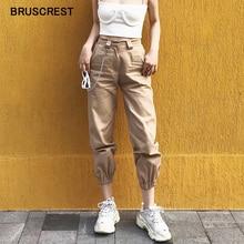 אביב בציר שרשרת שחור מטען מכנסיים נשים גבוהה מותן מכנסיים רצים בבאגי מכנסיים נשים streetwear בתוספת גודל