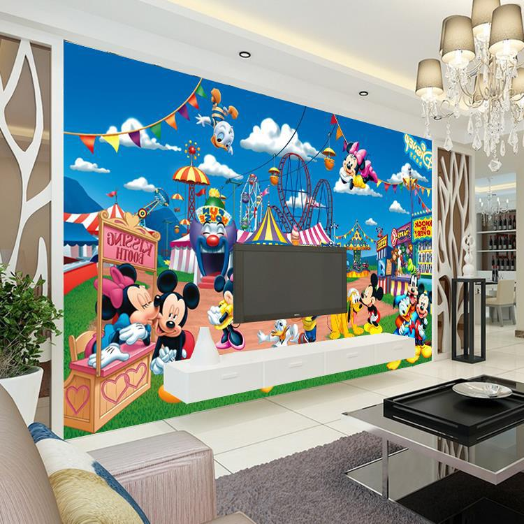 Wholesale 3d Wall Murals For Baby Kids Room 3D Photo Mural Mickey Mouse  Duck Mural 3d