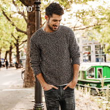 SIMWOOD New Sweater Men 2018 autumn Cotton Mix Wool Cashmere Pullover O-neck Sweater Plus Size Outerwear Streetwear MT017012