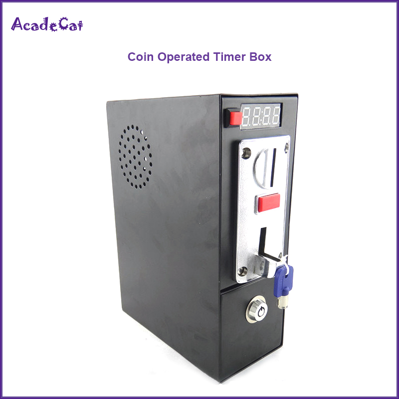 DG600F Coin operated Timer Control box with multi coin selector acceptor for washing machine massage chair