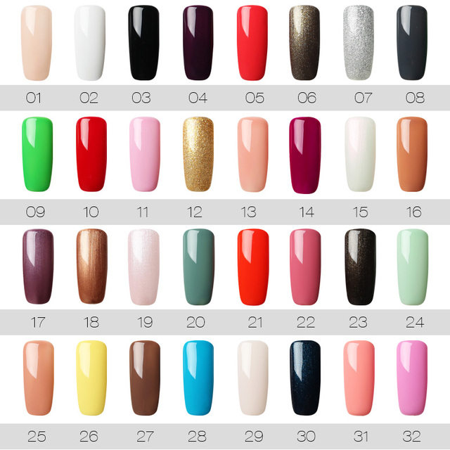 ROSALIND 7ML UV Gel Varnish Nail Polish Set For Manicure Gellak Semi Permanent Hybrid Nails Art Off Prime White gel nail polish