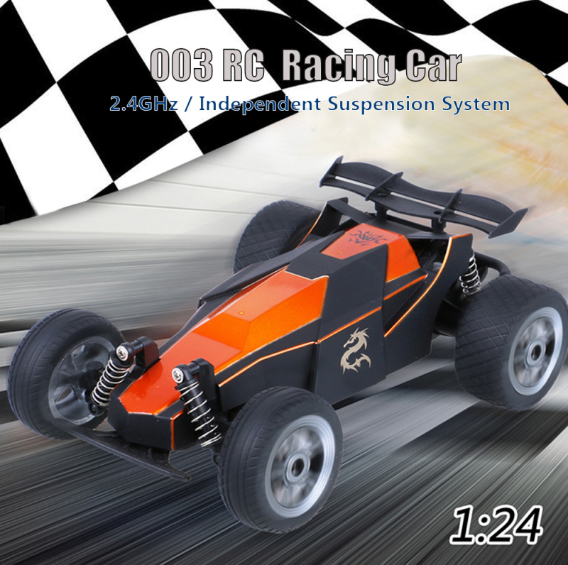 Remote Control Car 003 2.4G 4CH 1/24 High Speed RC Electronic Racing Car Red Orange Remote Control Model for Children Toy gifts