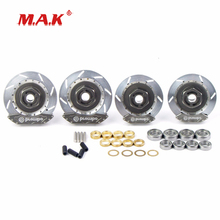 1:10 Scale Wheel Rim Brake Disc in Aluminum Alloy fit 1/10 RC On-Road Racing Car Model Parts and Accessories