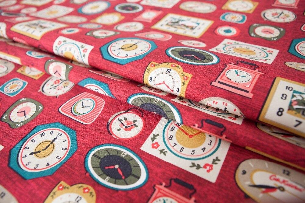 Red Orange Full Meter100/% Cotton Fabric Floral Flower Chrysanthemum Japanese