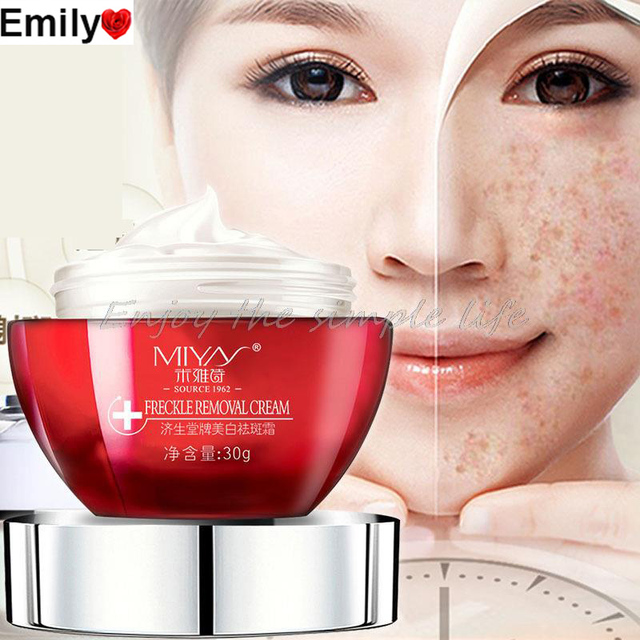 Strong effects Powerful whitening Freckle cream 30g Remove melasma Acne Spots pigment Melanin face care cream 1pcs