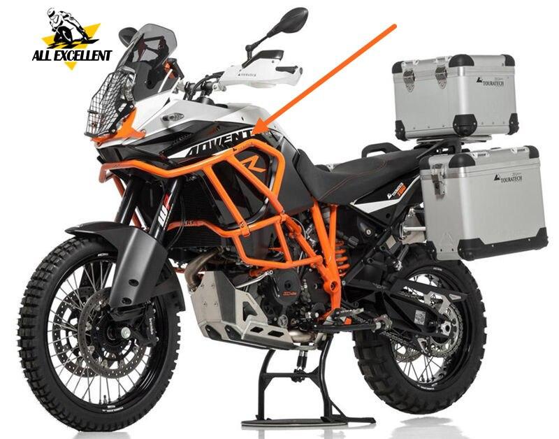 Pour KTM moto supérieure CRASH BARS couleur orange moteur pare-chocs protecteur en acier cadre garde pour 1050 1190 ADV aventure/R