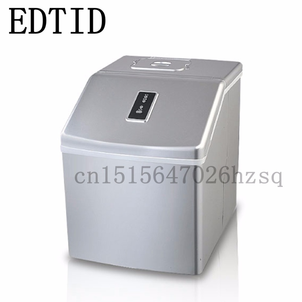 EDTID New high quality Small commercial ice machine household ice machine tea milk shop edtid 12kgs 24h portable automatic ice maker household bullet round ice make machine for family bar coffee shop eu us uk plug
