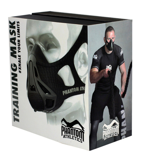 With Retail Box Newest Phantom Training 2.0 Mask Black Model Training 2.0 Environmental For Sport GYM Training Body Mask