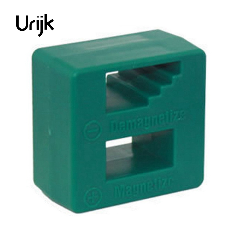 Urijk 1Pc Magnetizer Demagnetizer Degausser Portable Screwdriver Drill Head Bit Electric Metalworking Woodworking Green 5*5*3cm orange 5mm hole dia screwdriver bit magnetizer demagnetizer ring 2 pcs